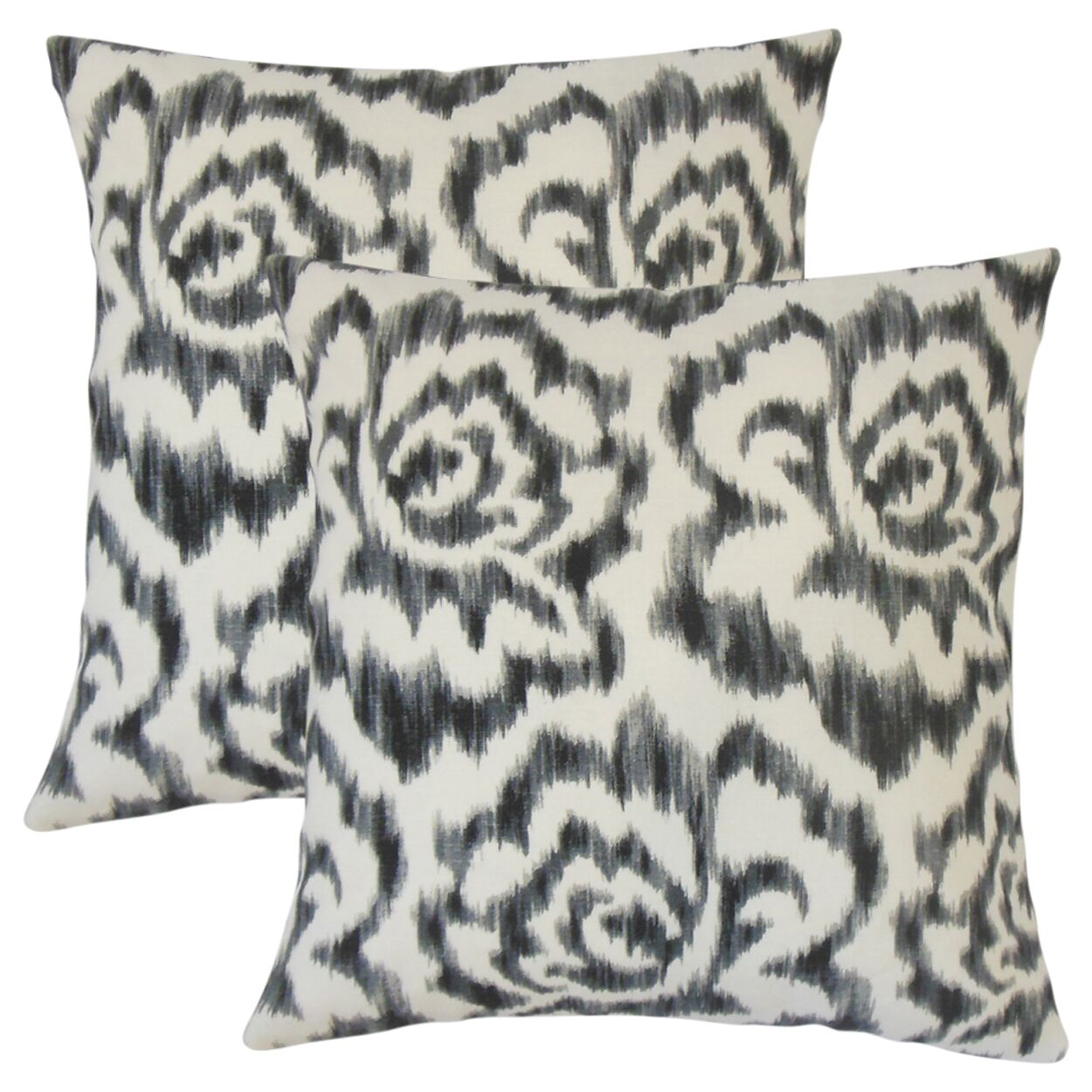 Wilmington Ikat Cotton Throw Pillow