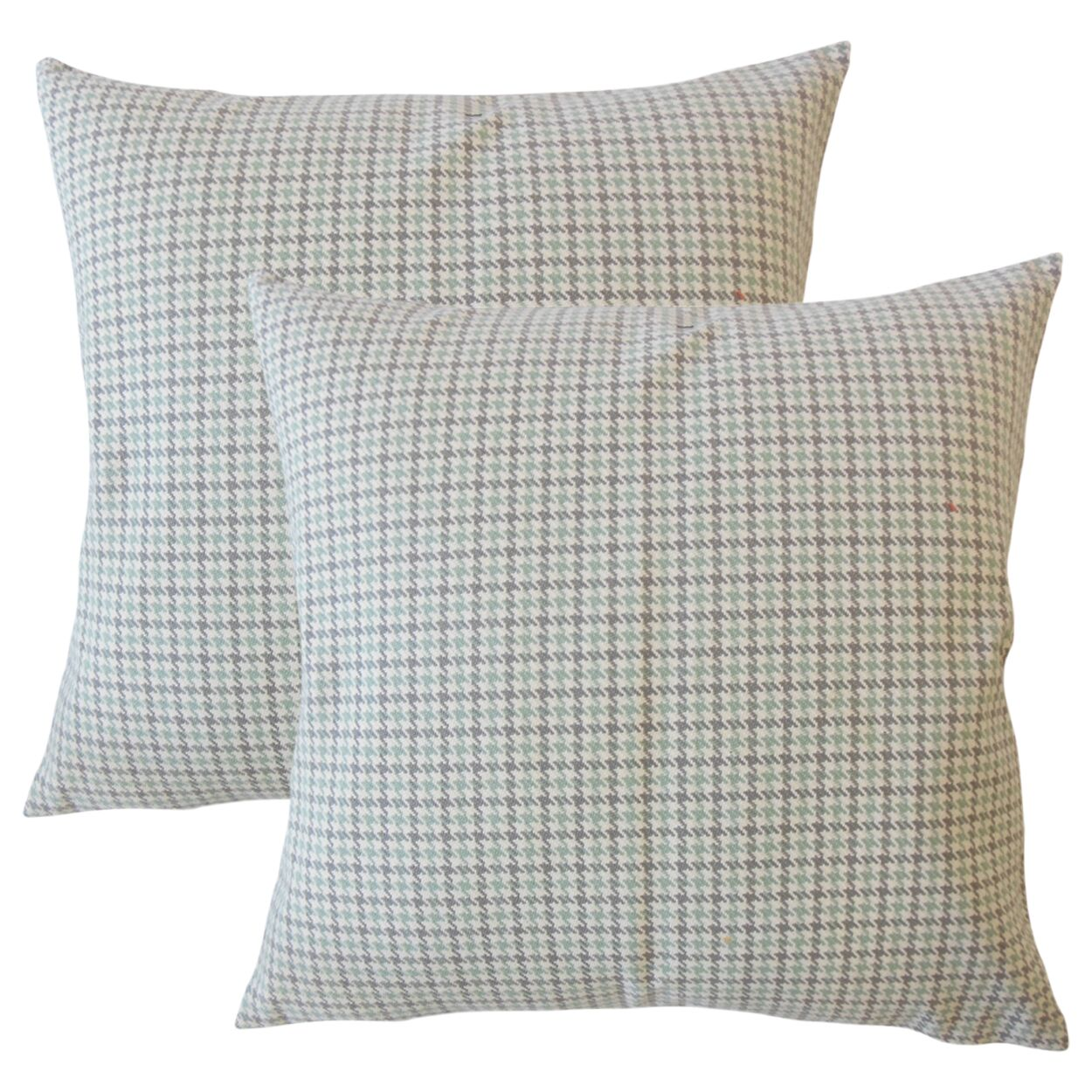 Posada Houndstooth Cotton Throw Pillow