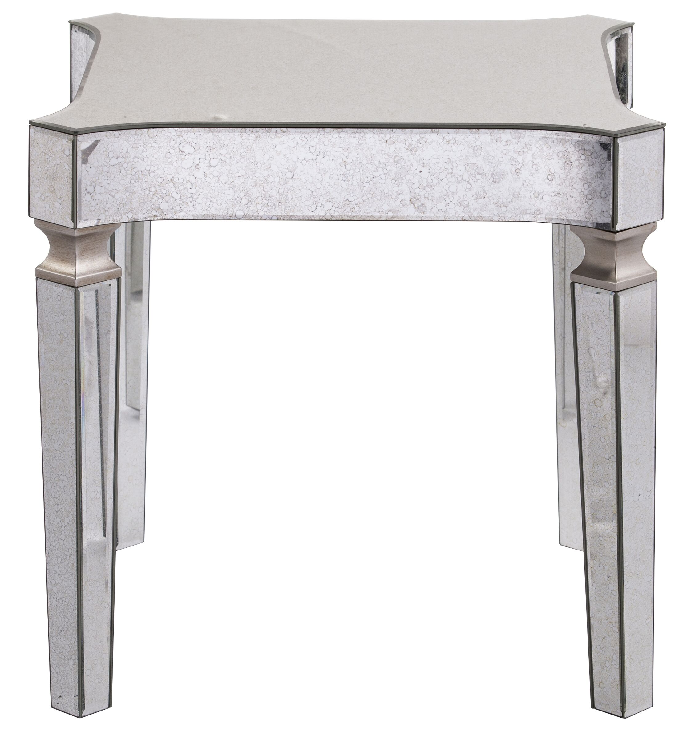 Paulsen Mirrored End Table with Tray