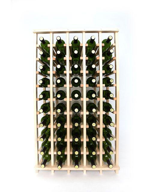 Premium Cellar Series 50 Bottle Floor Wine Rack Finish: Pine