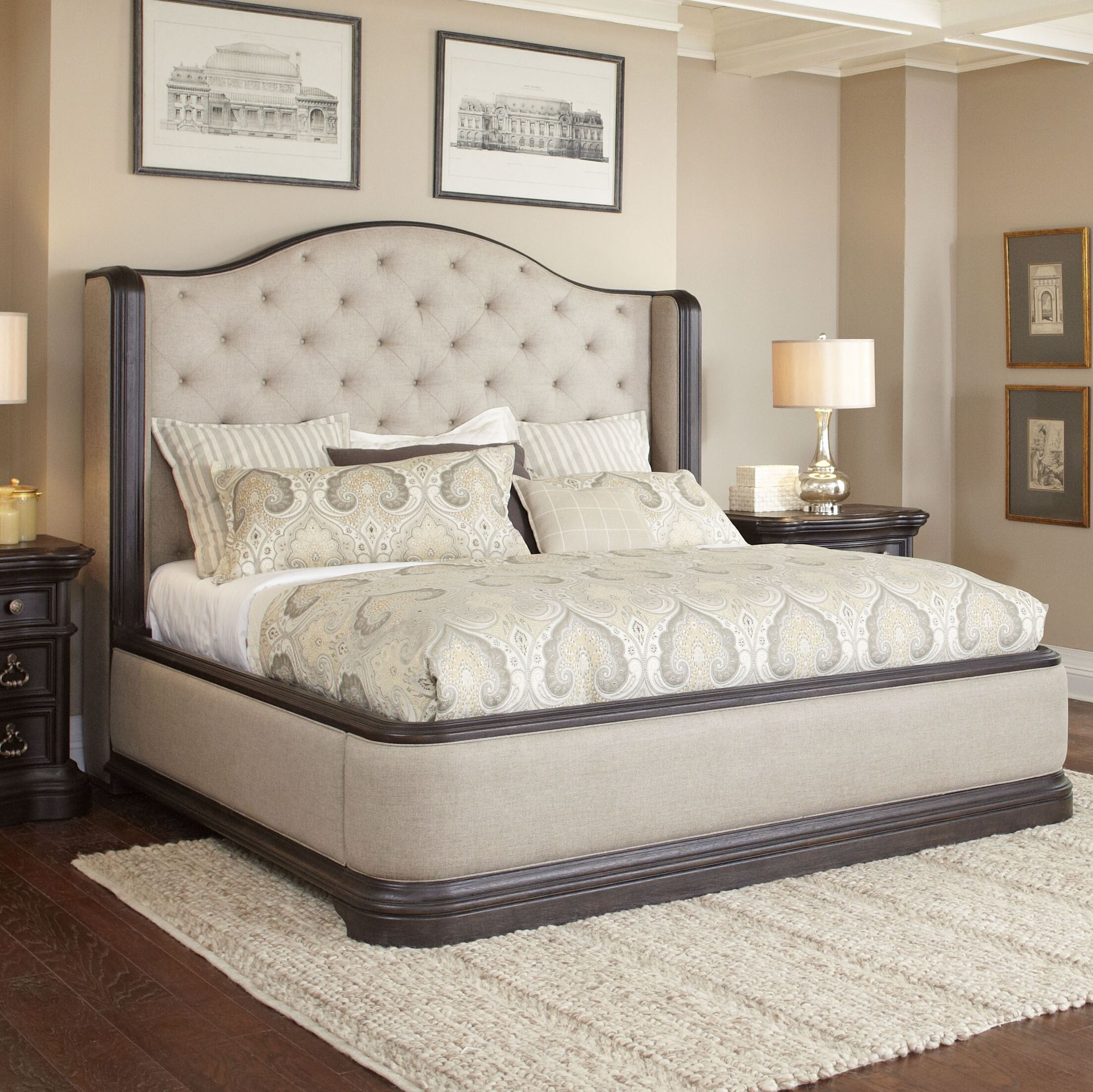 Ikin Upholstered Panel Bed Size: California King