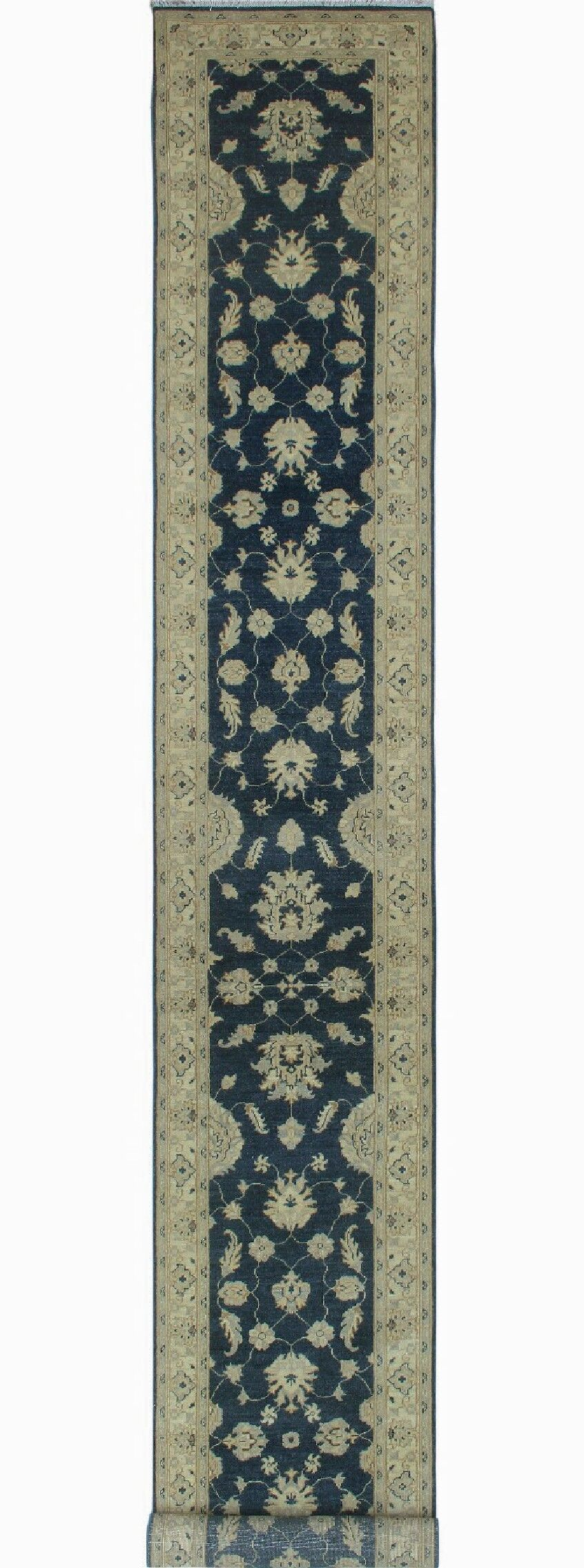One-of-a-Kind Suzann Fine Chobi Hand-Knotted Beige/Green Area Rug