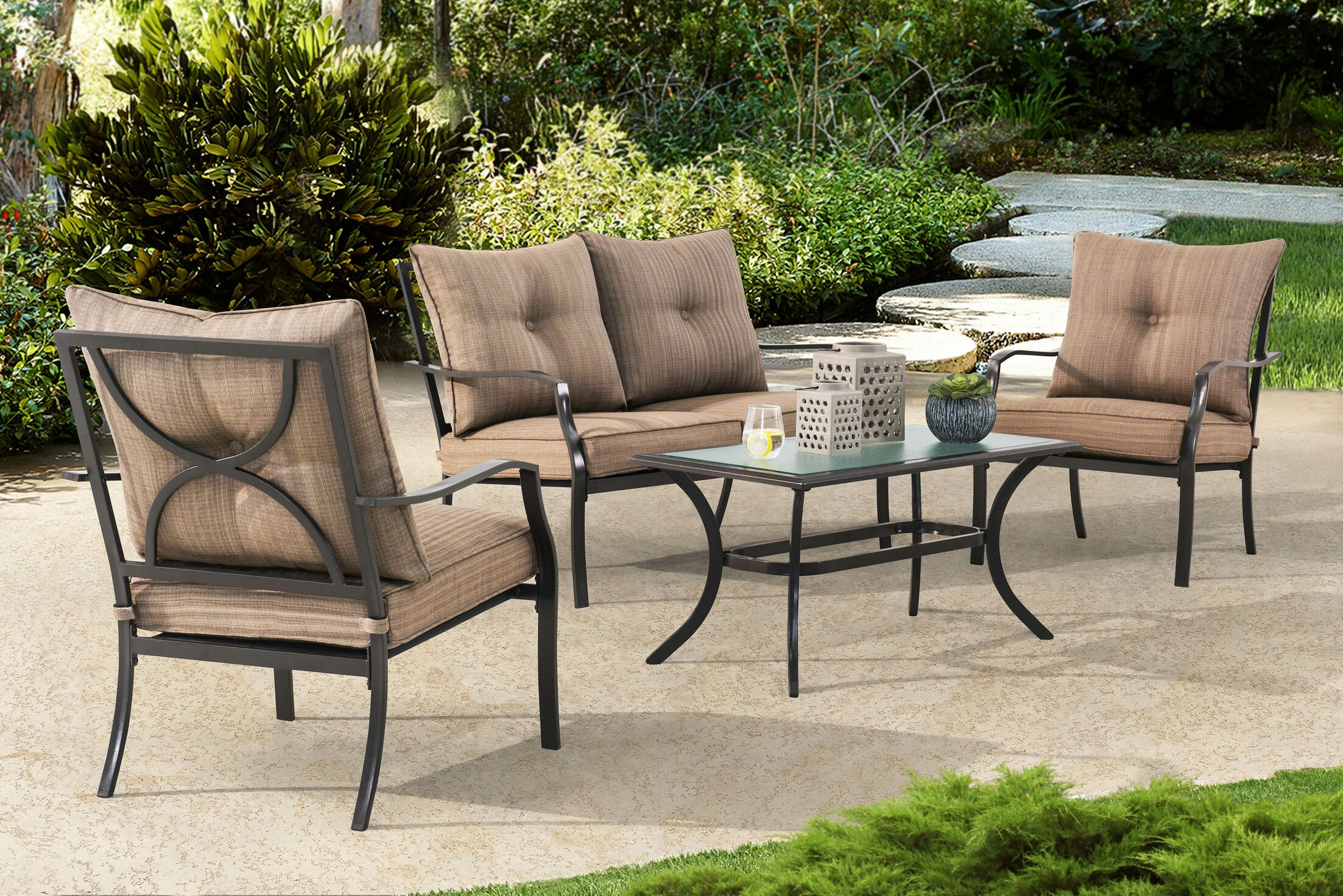 Penright 4 Piece Sofa Set with Cushions