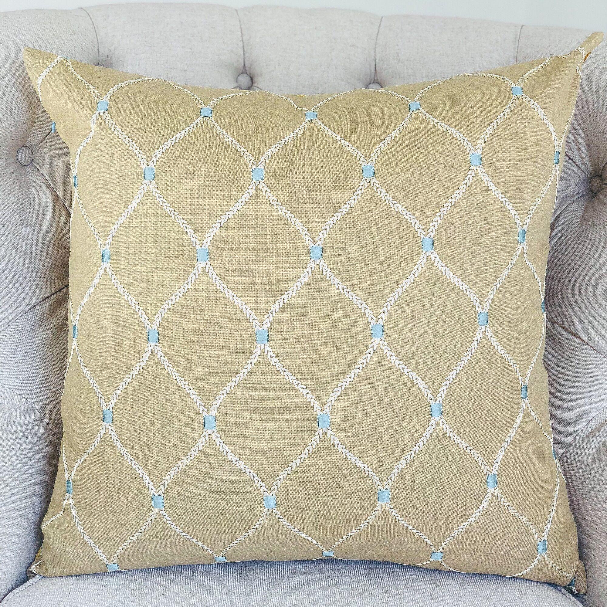 Dewdrop Handmade Throw Pillow  Size: 18