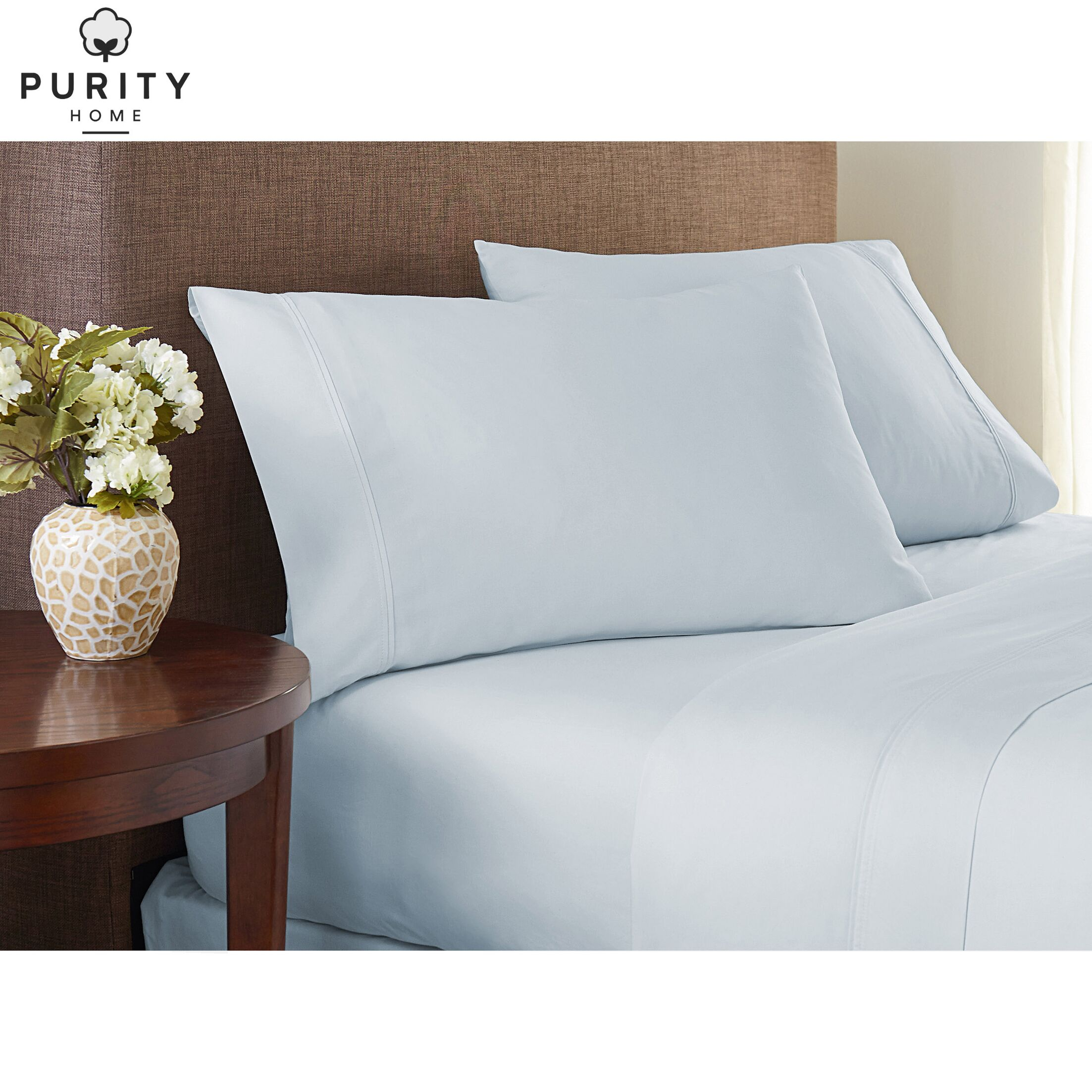 Purity Home 4 Piece Ultrasoft 1000 Thread Count Sheet Set Color: Aqua, Size: Queen