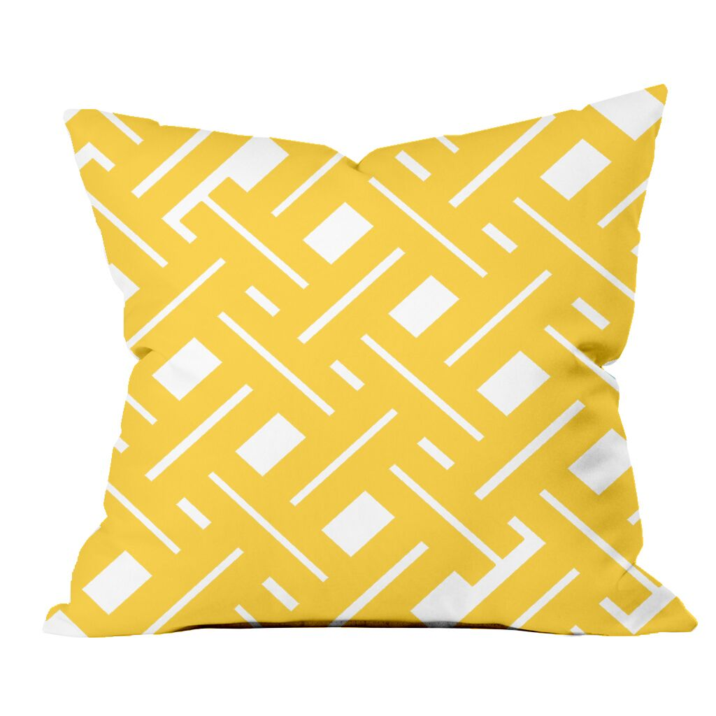 Garden Fencing Geometric Throw Pillow Size: 20