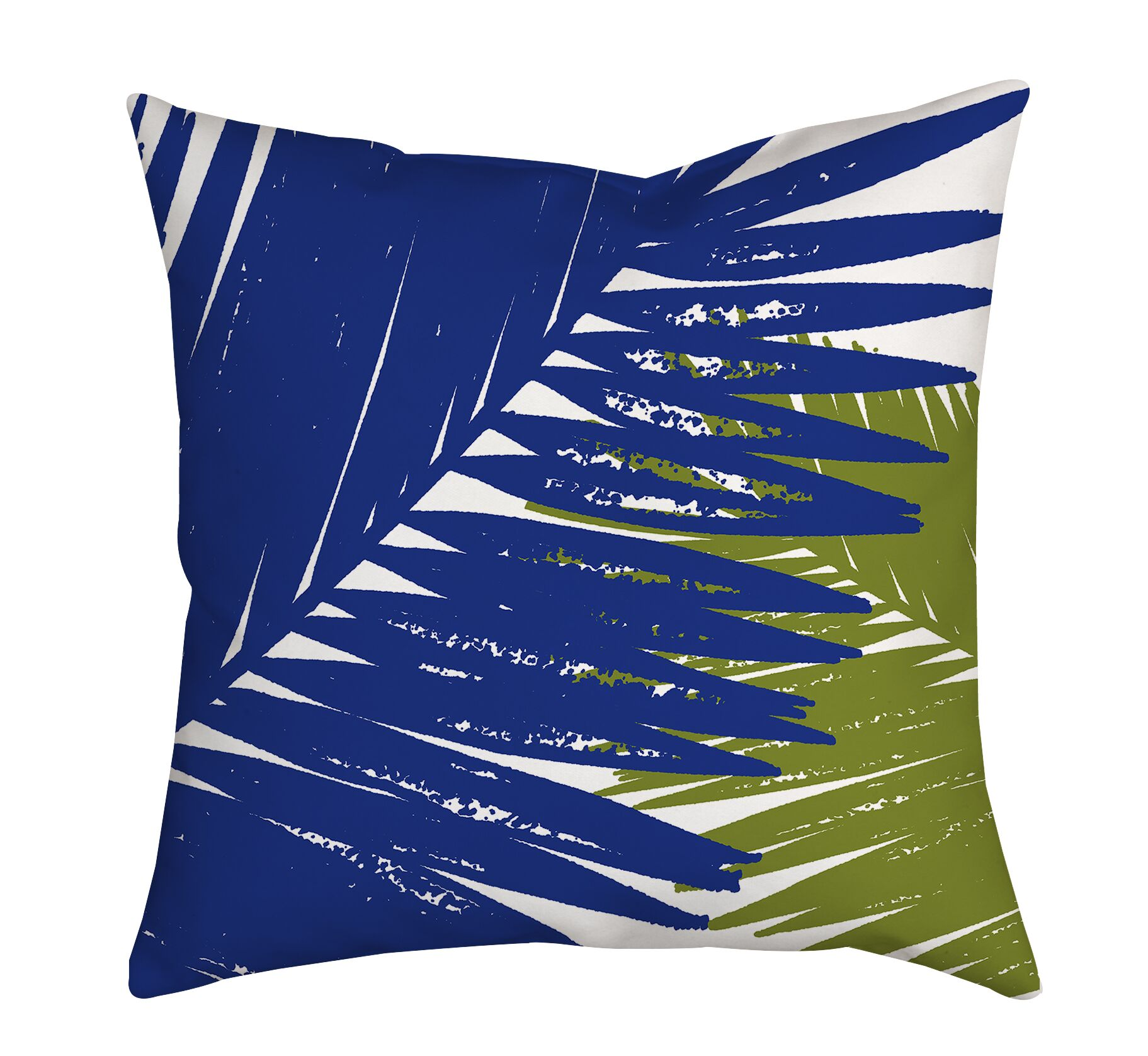Trinidad Palm Leaves Graphic Polyester Throw Pillow Size: 20