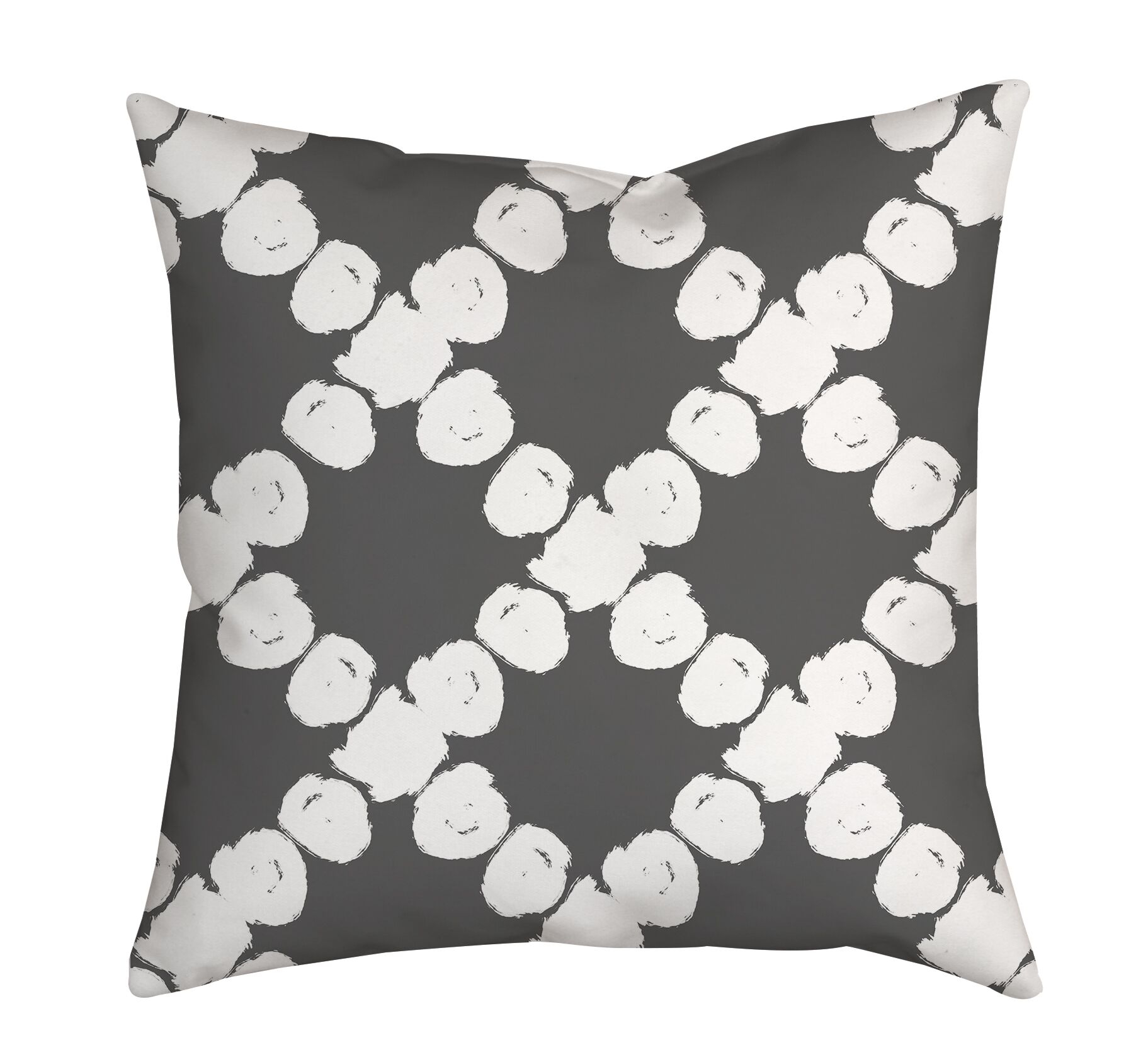 Round the Way Polka Dot Polyester Throw Pillow