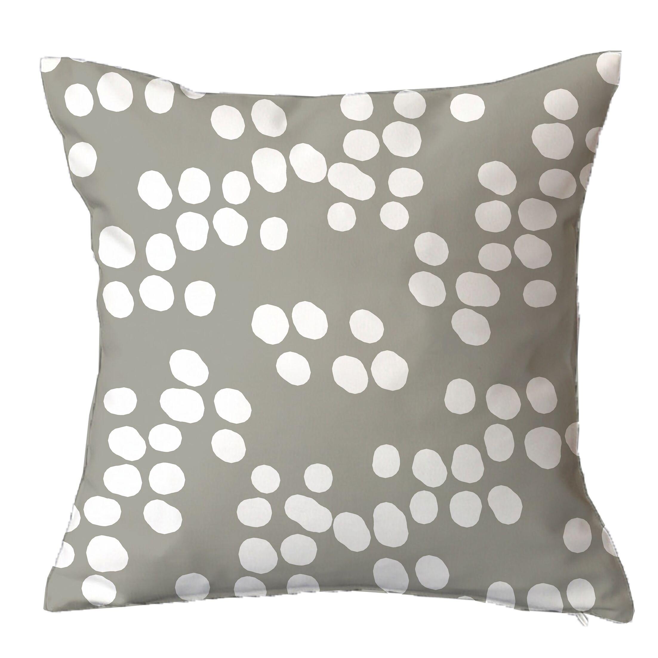 Random Specks Geometric Throw Pillow Size: 18