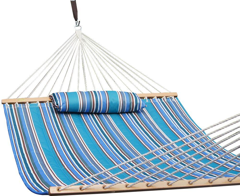Allison Cotton Tree Hammock Color: Blue Stripes