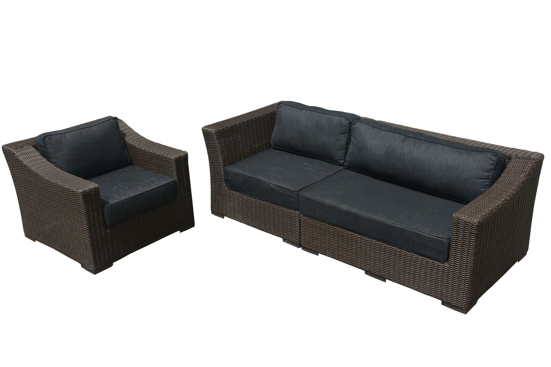 Tunstall 3 Piece Sofa Set with Cushions