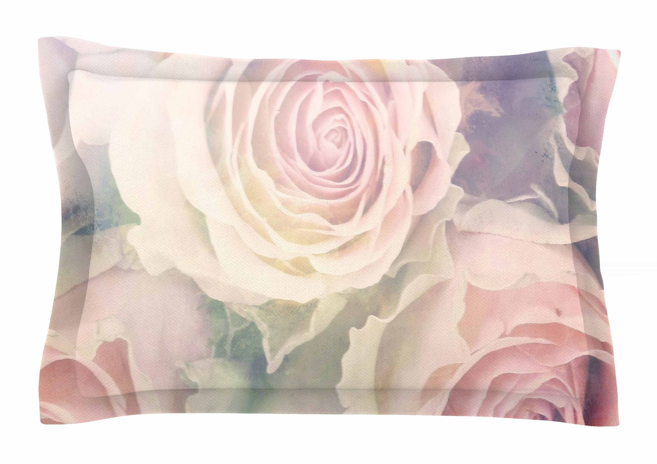 Faded Beauty by Suzanne Carter Pillow Sham Size: Queen