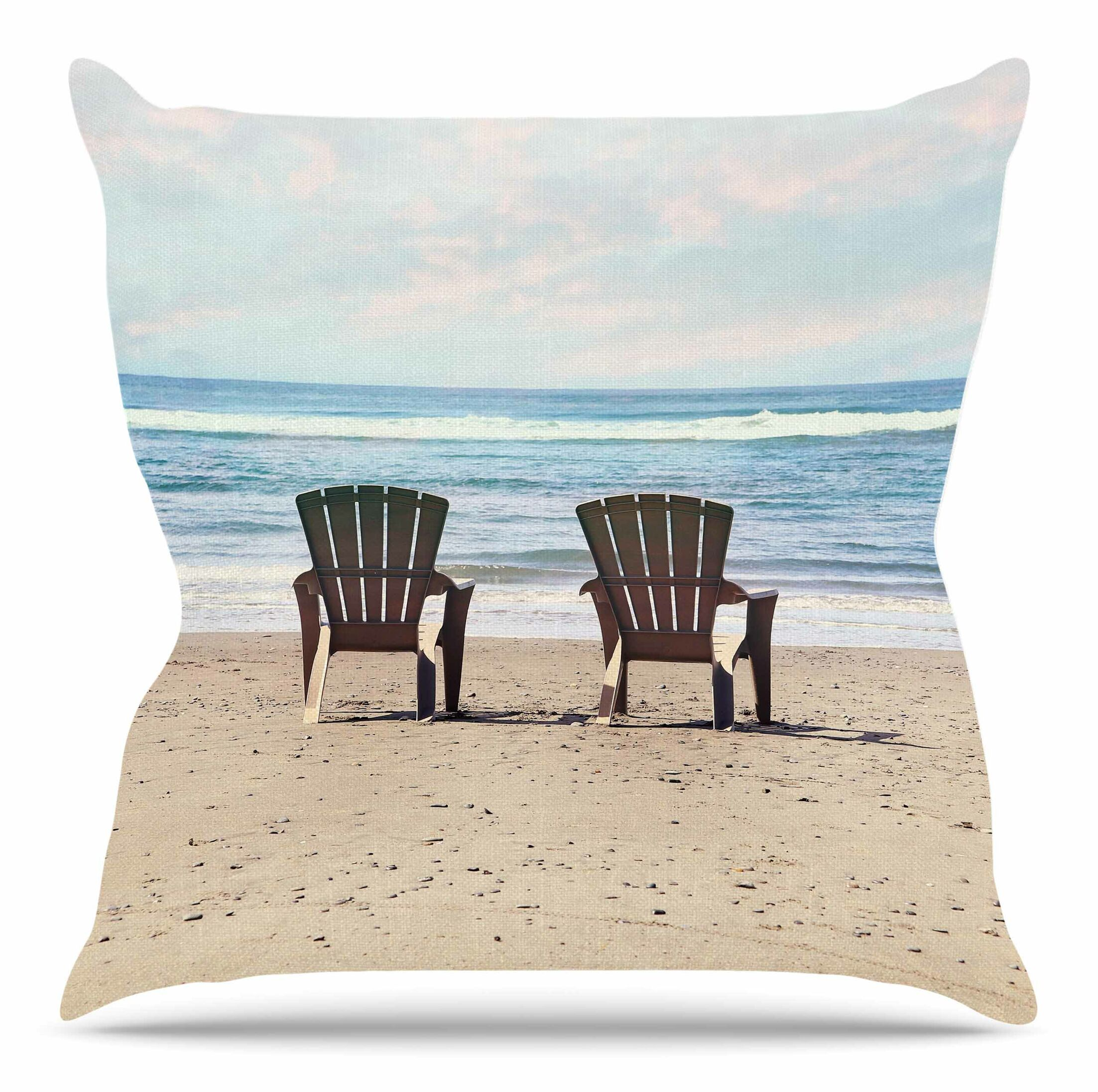 A Great View by Sylvia Cook Throw Pillow Size: 26