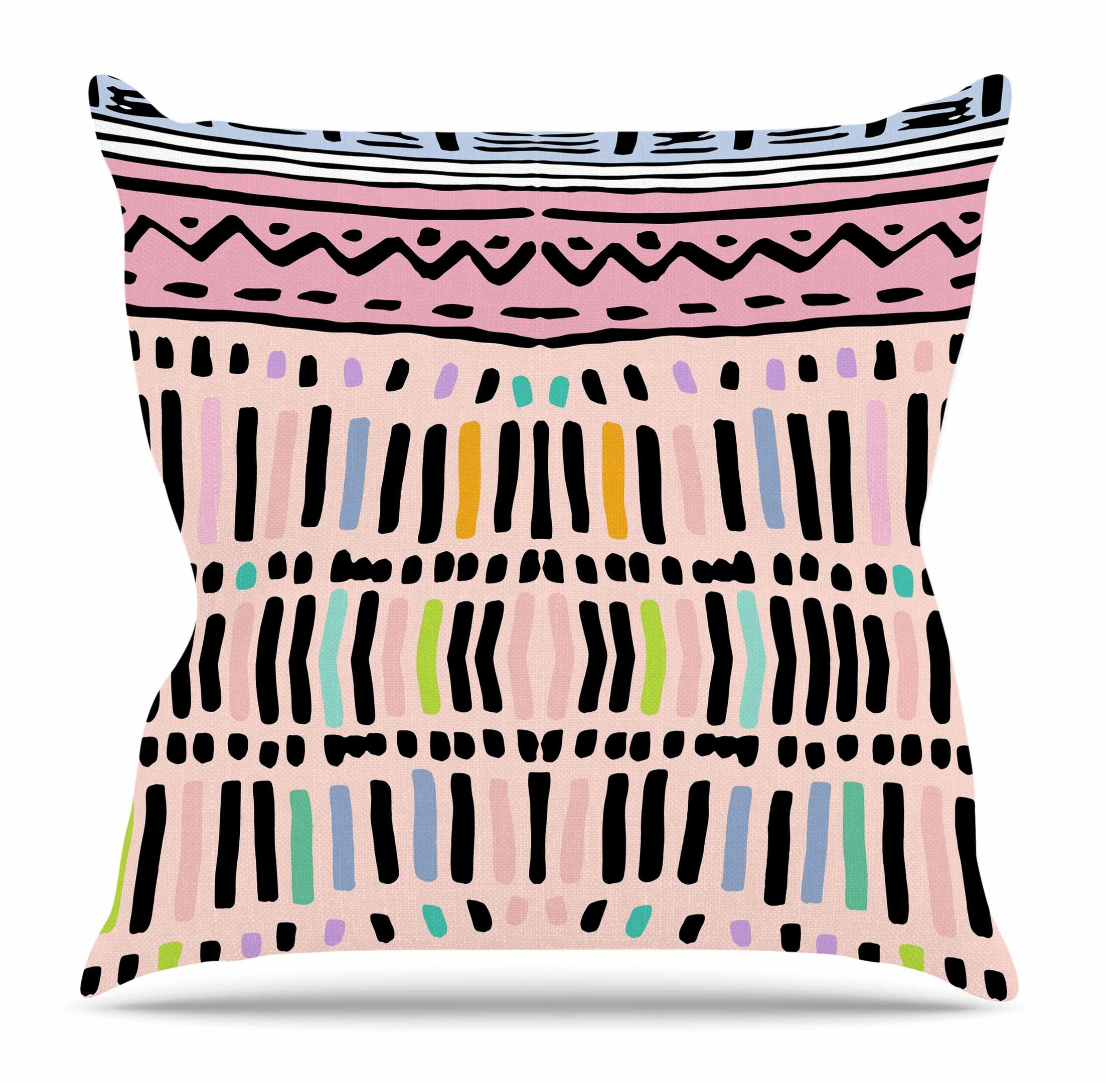Native Pastel by Vasare Nar Throw Pillow Size: 26