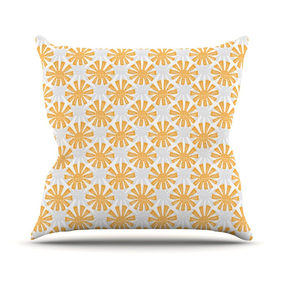 Sunburst Outdoor Throw Pillow
