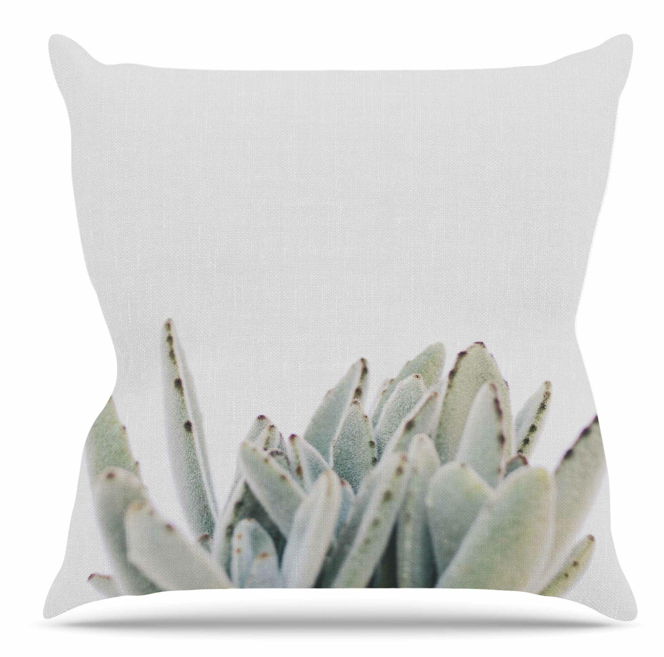 Succulent 3 Throw Pillow Size: 16