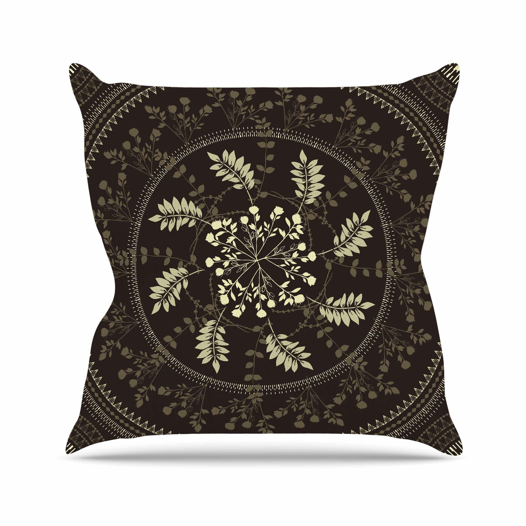 Reborn Mandala Throw Pillow Size: 18