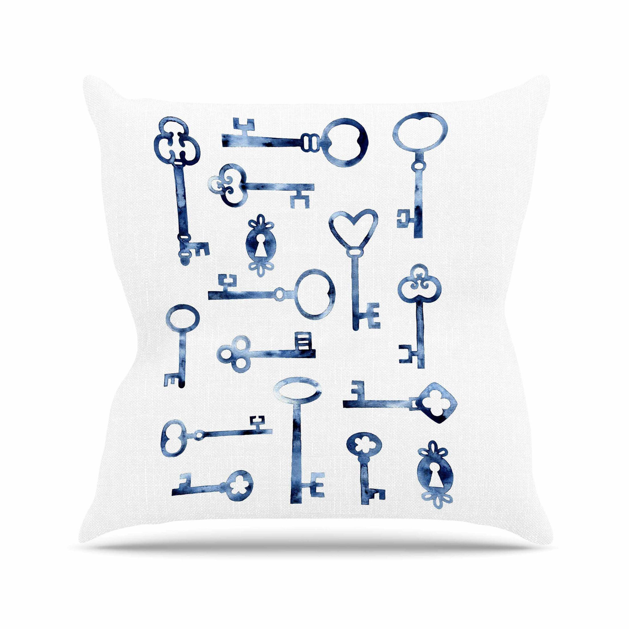 Keys Throw Pillow Size: 16