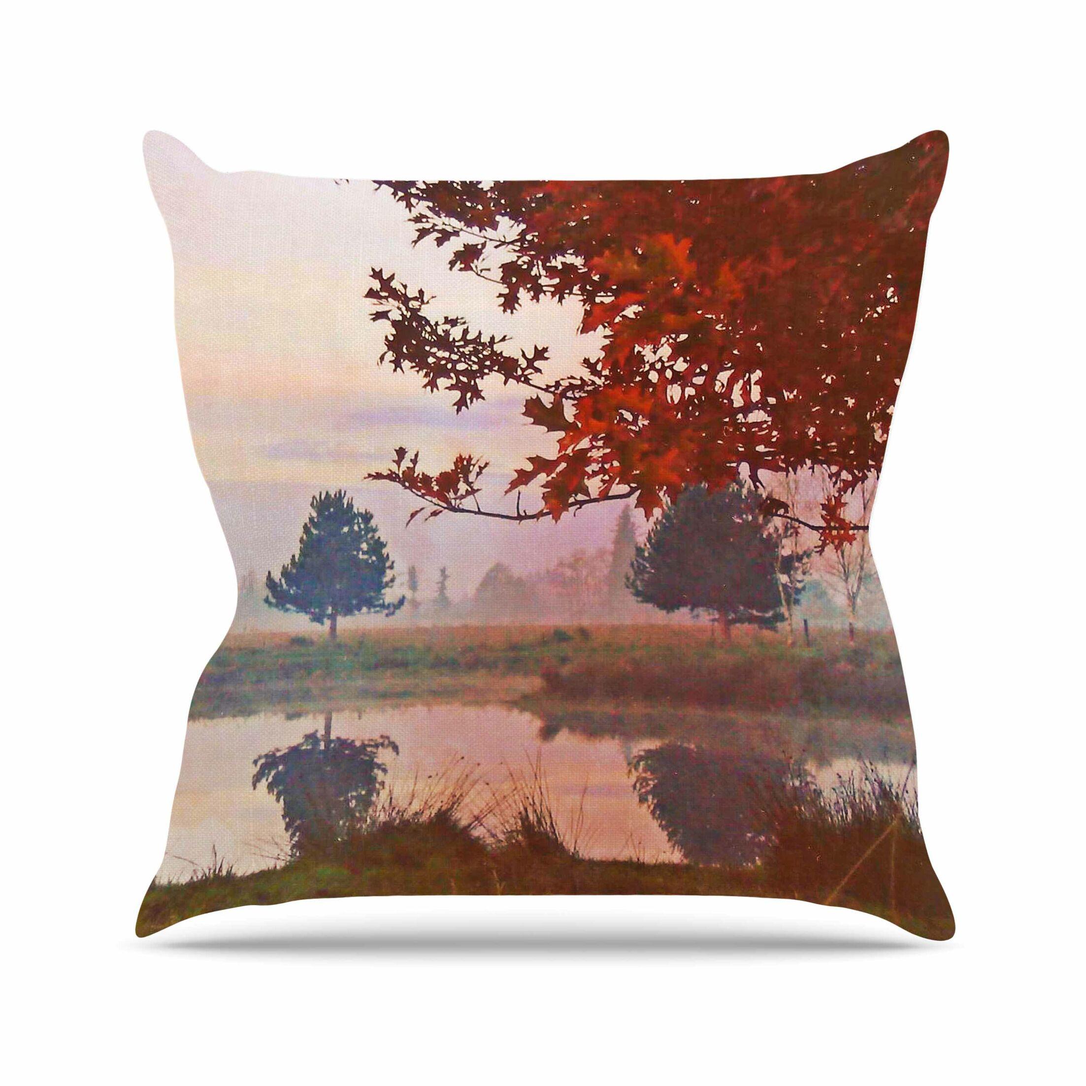 Magic Morning Pellerina Design Throw Pillow Size: 26