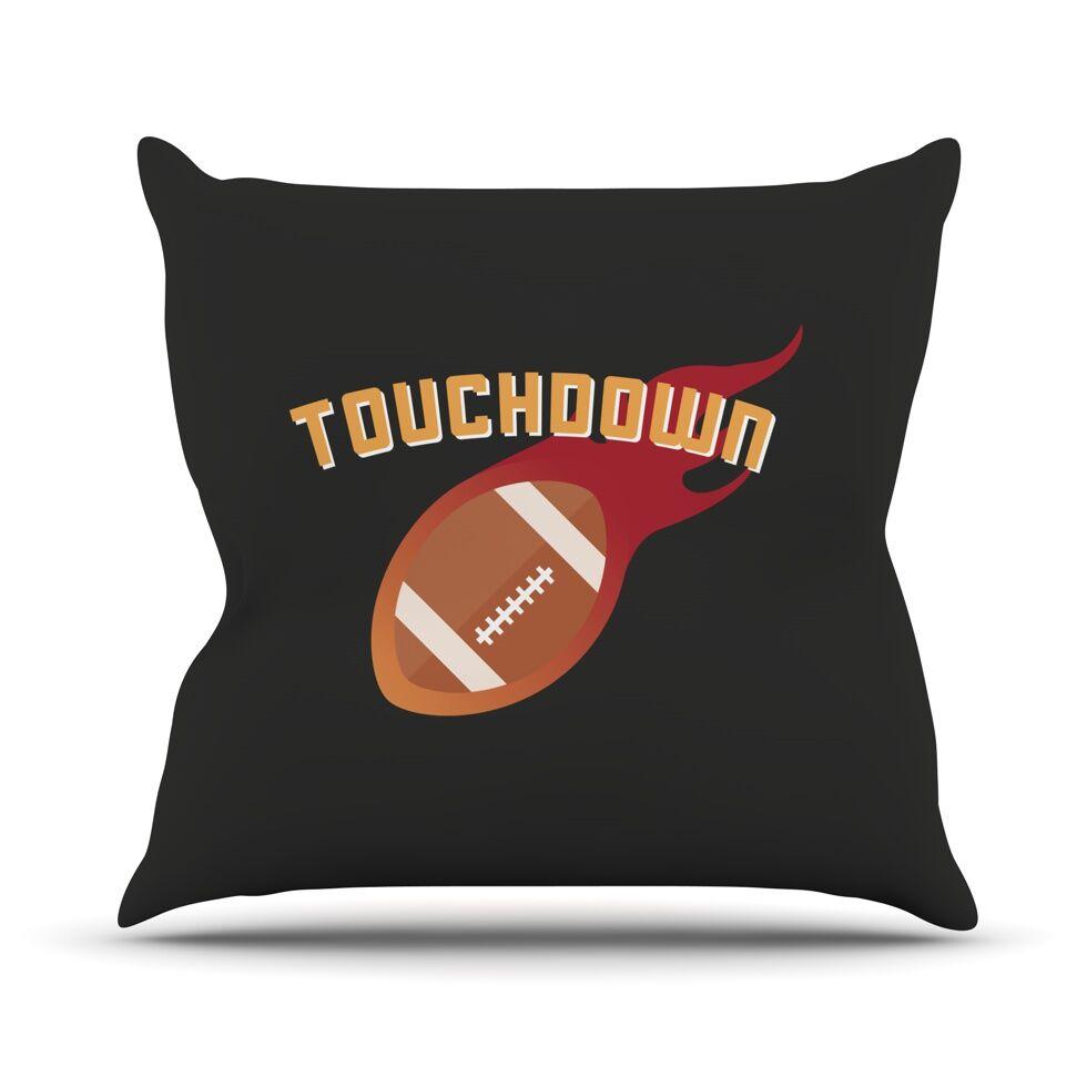 Touchdown XLVI Sports Football Throw Pillow Size: 18