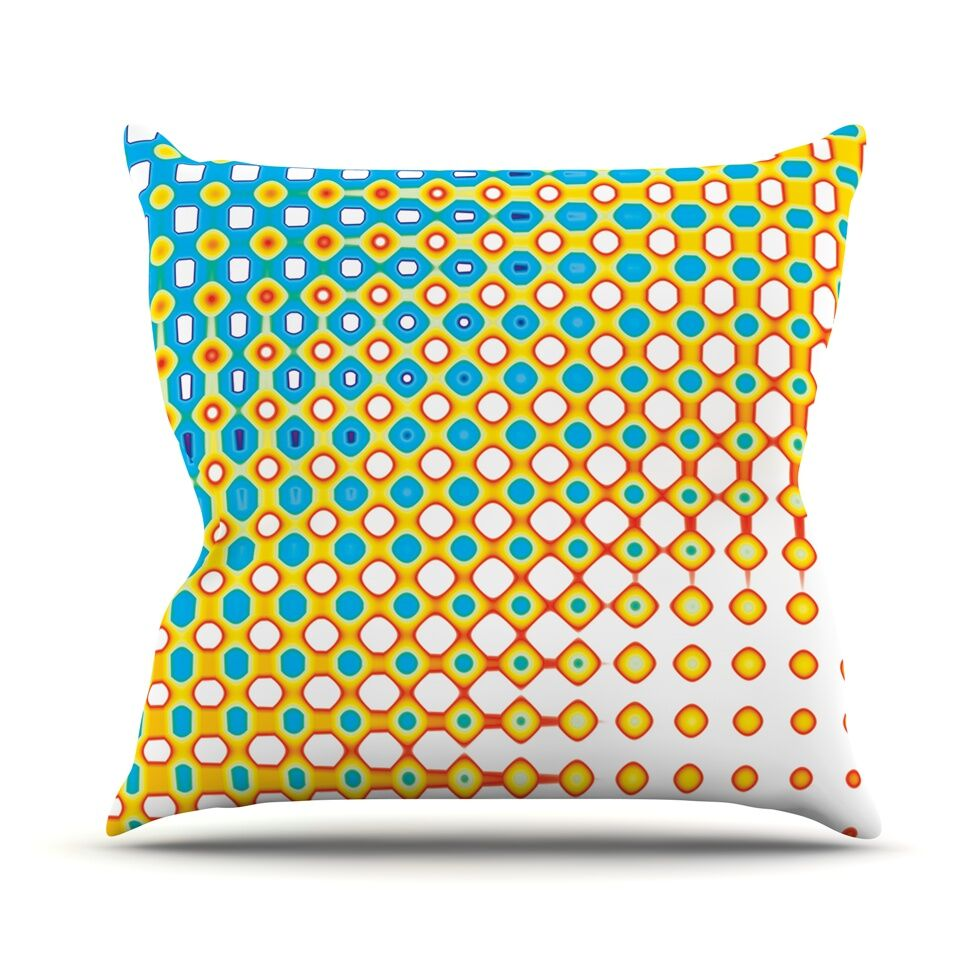 Psychedelic Art by Dawid Roc Throw Pillow Size: 18