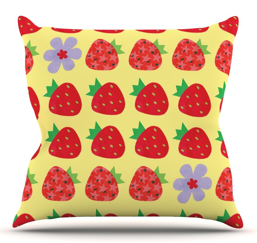 Seasons Summer by Jane Smith Outdoor Throw Pillow