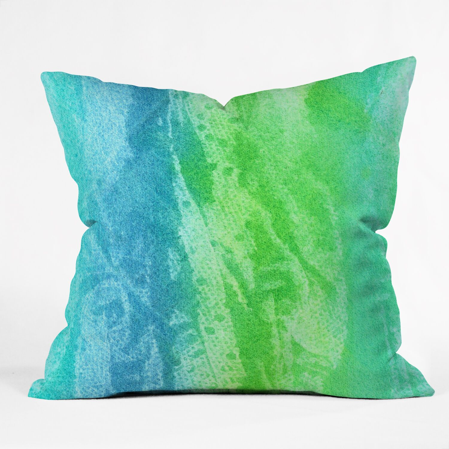 Caribbean Sea by Laura Trevey Indoor/Outdoor Throw Pillow Size: 18
