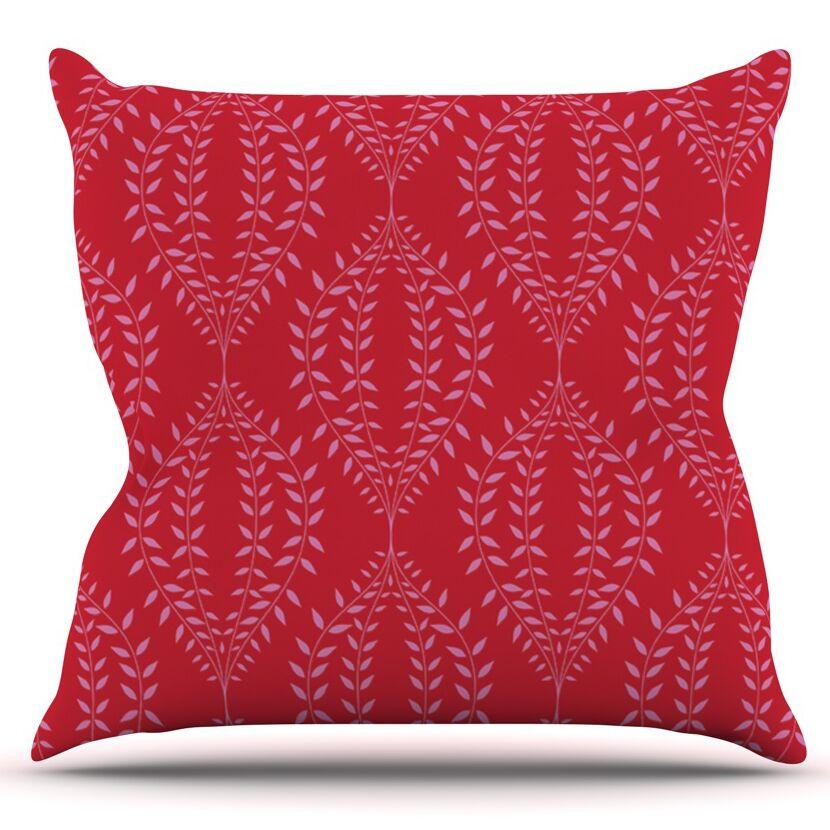 Laurel Leaf by Anneline Sophia Outdoor Throw Pillow Color: Blue