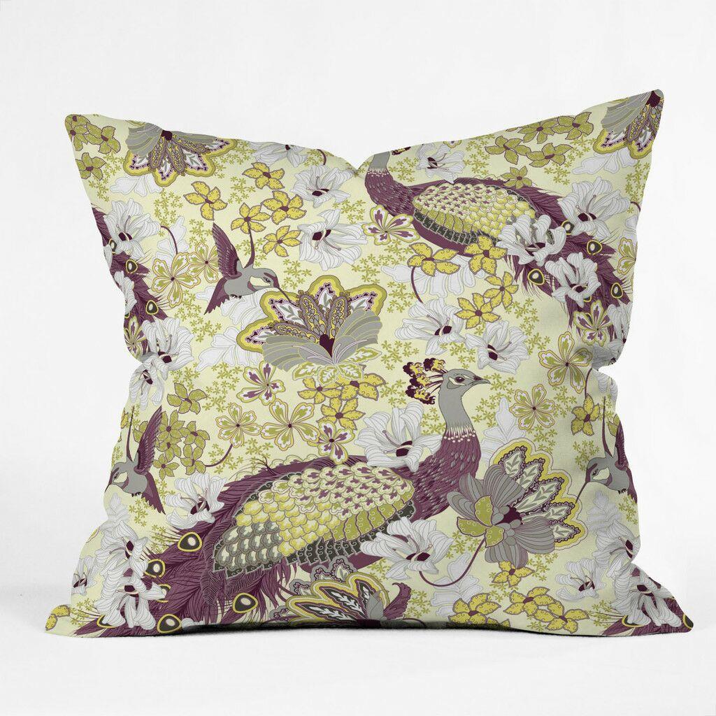 Polyester Throw Pillow Size: 26