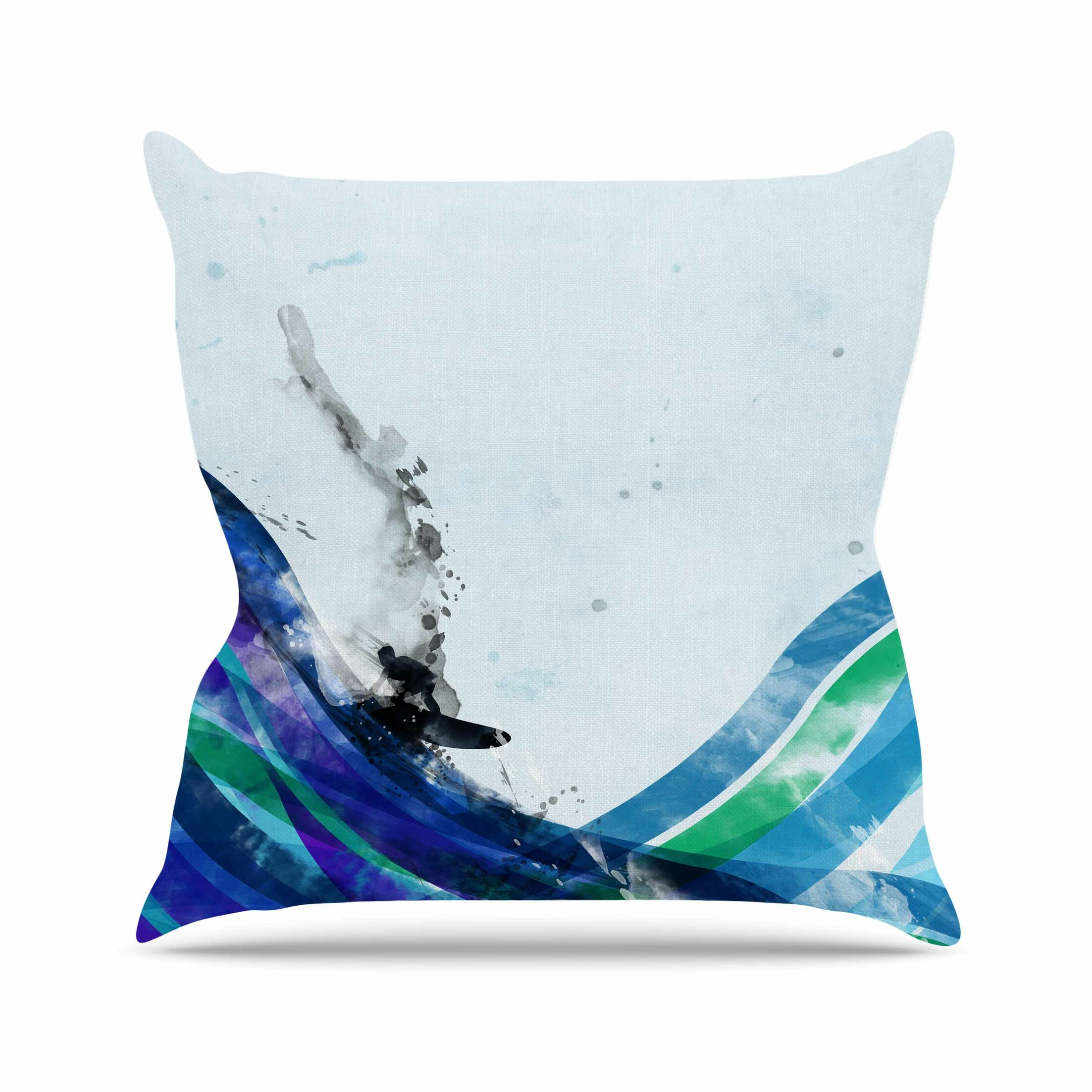 The Wave by Frederic Levy-Hadida Throw Pillow Size: 18