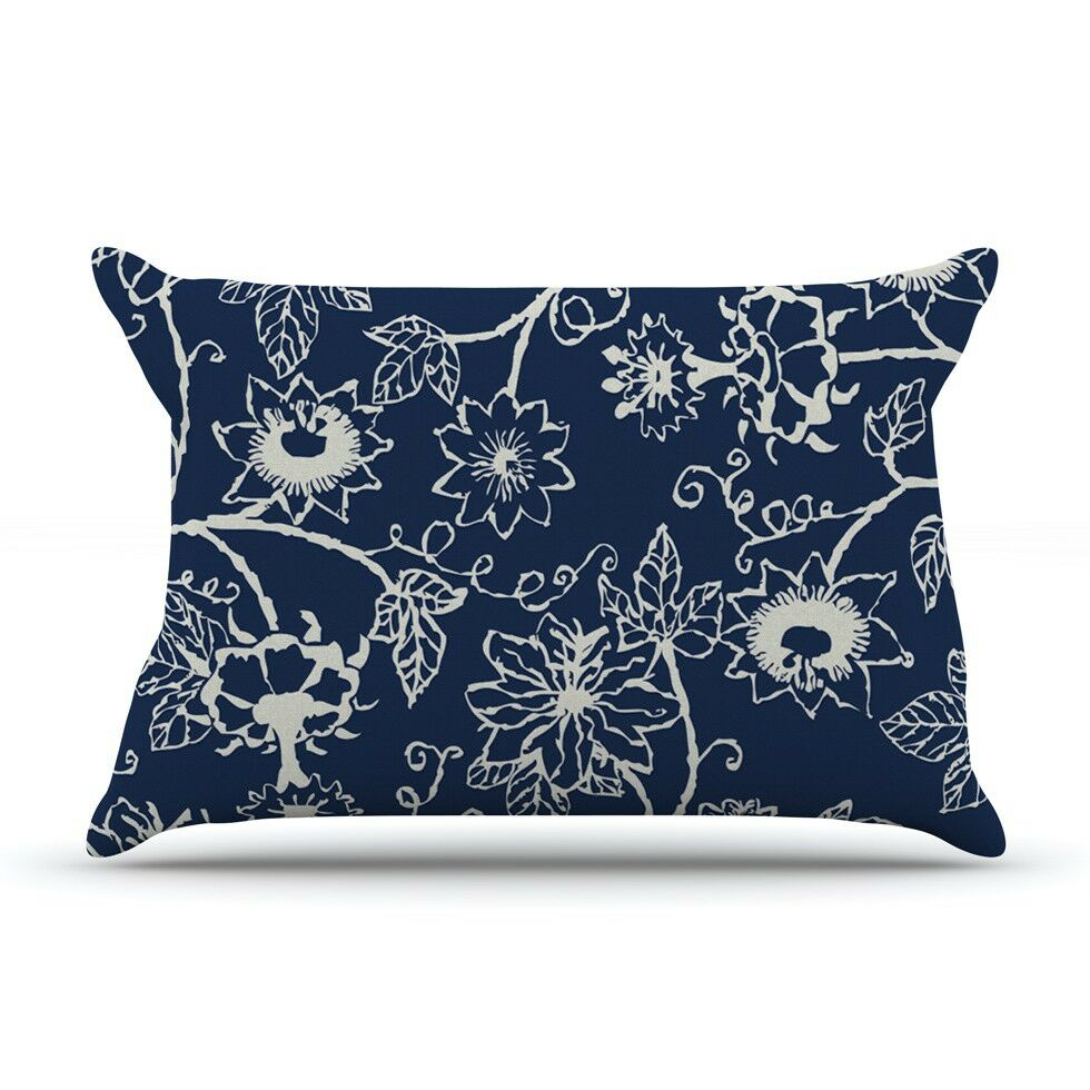 Passion Flower Floral by Laura Nicholson Cotton Pillow Sham
