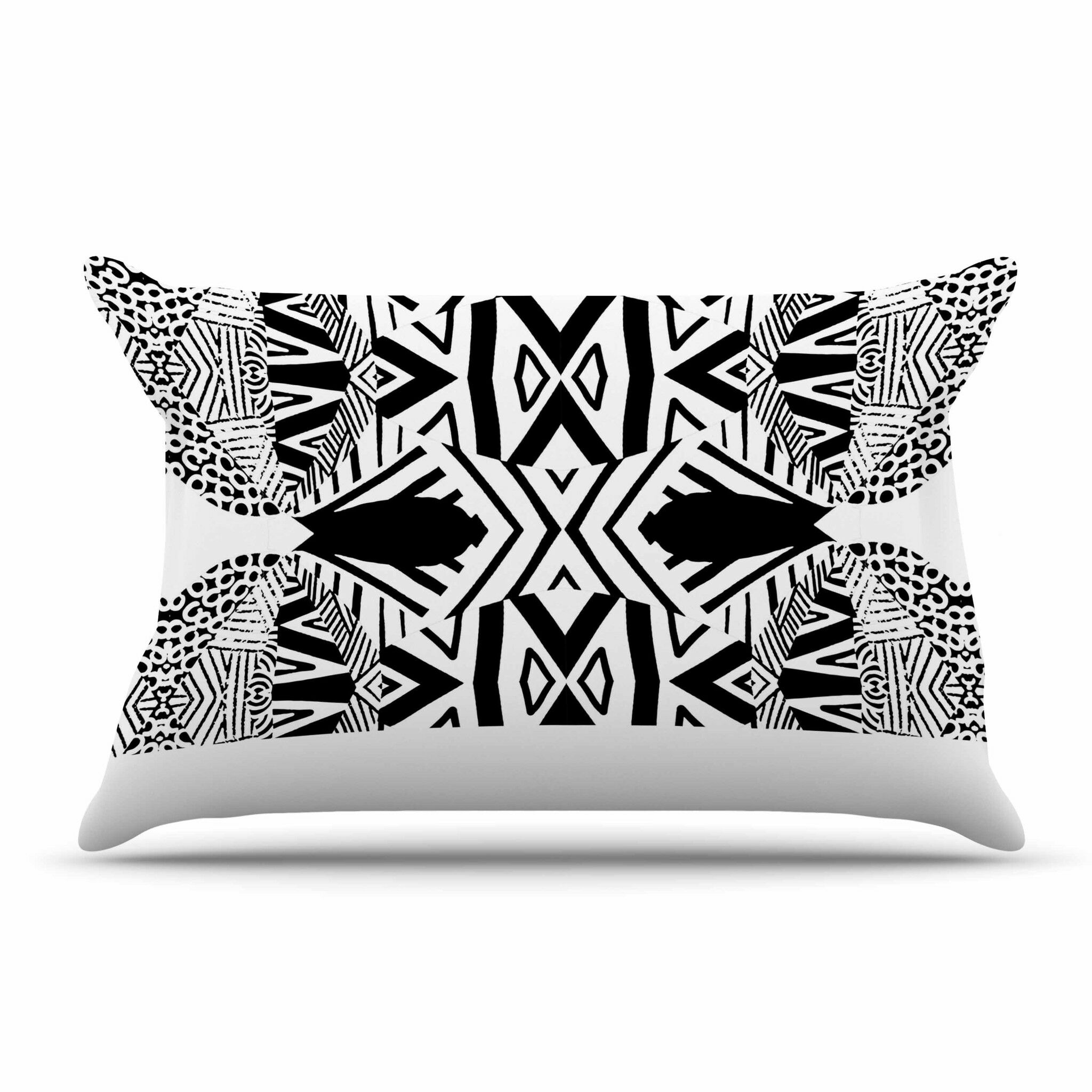 Ocean Retro Vibes Green by Pom Graphic Design Cotton Pillow Sham