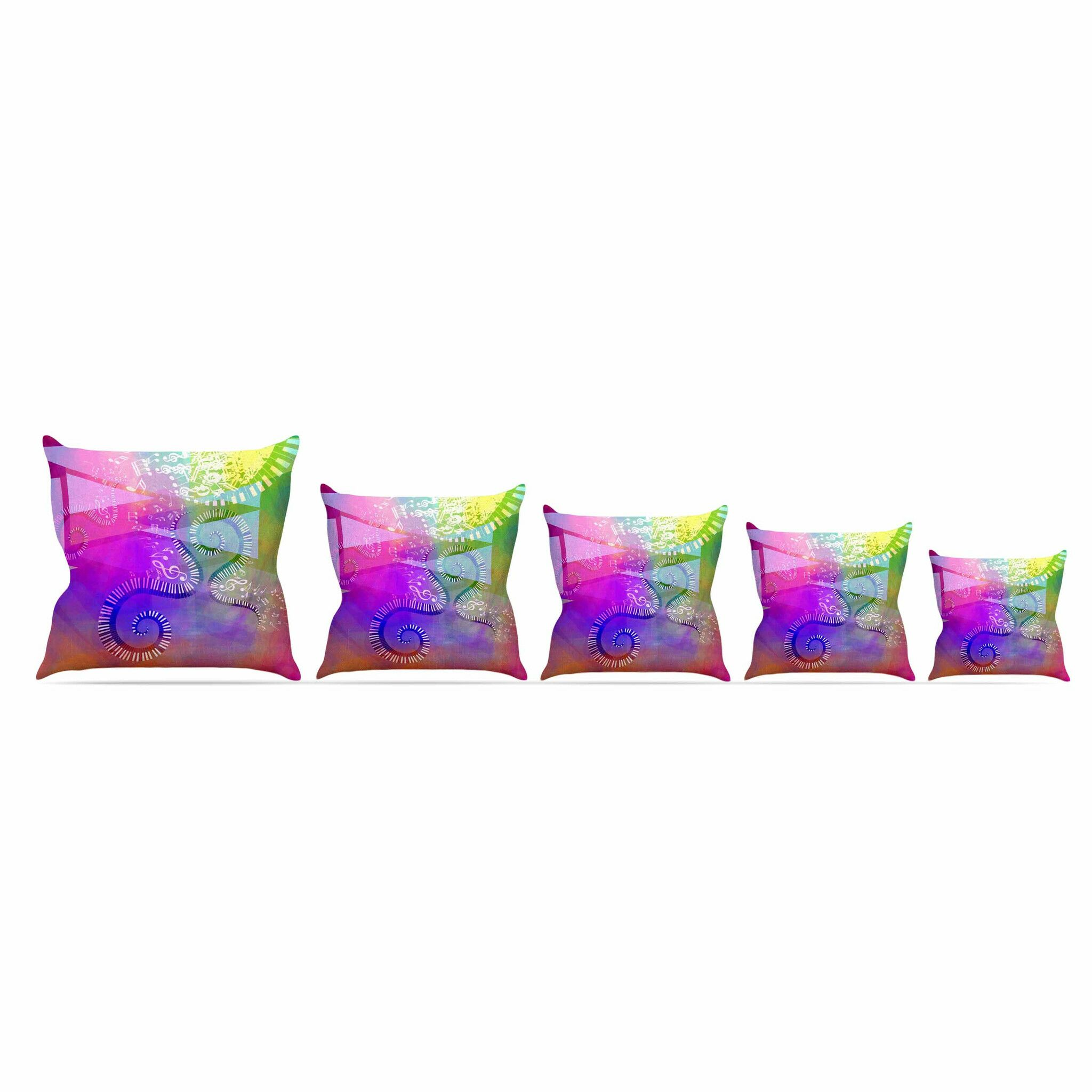 Musical Tendrils by Alyzen Moonshadow Throw Pillow Size: 16