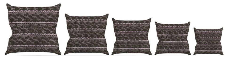 Lace Throw Pillow Size: 18'' H x 18'' W x 3