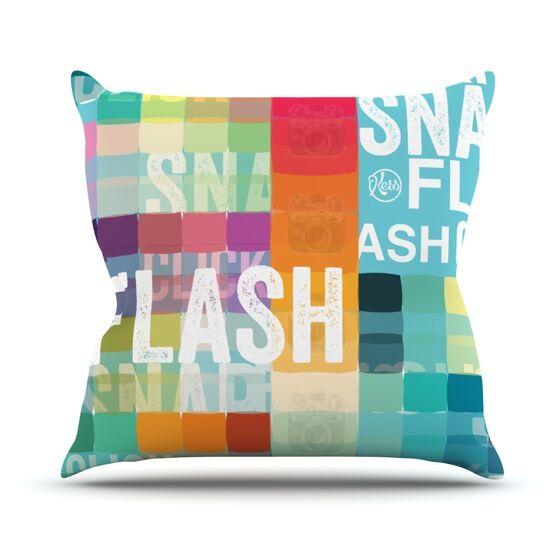 Flash Outdoor Throw Pillow