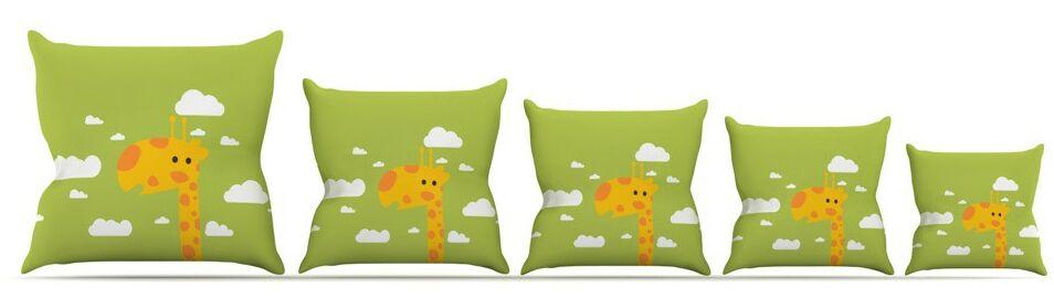 Baby Giraffe Throw Pillow Size: 16