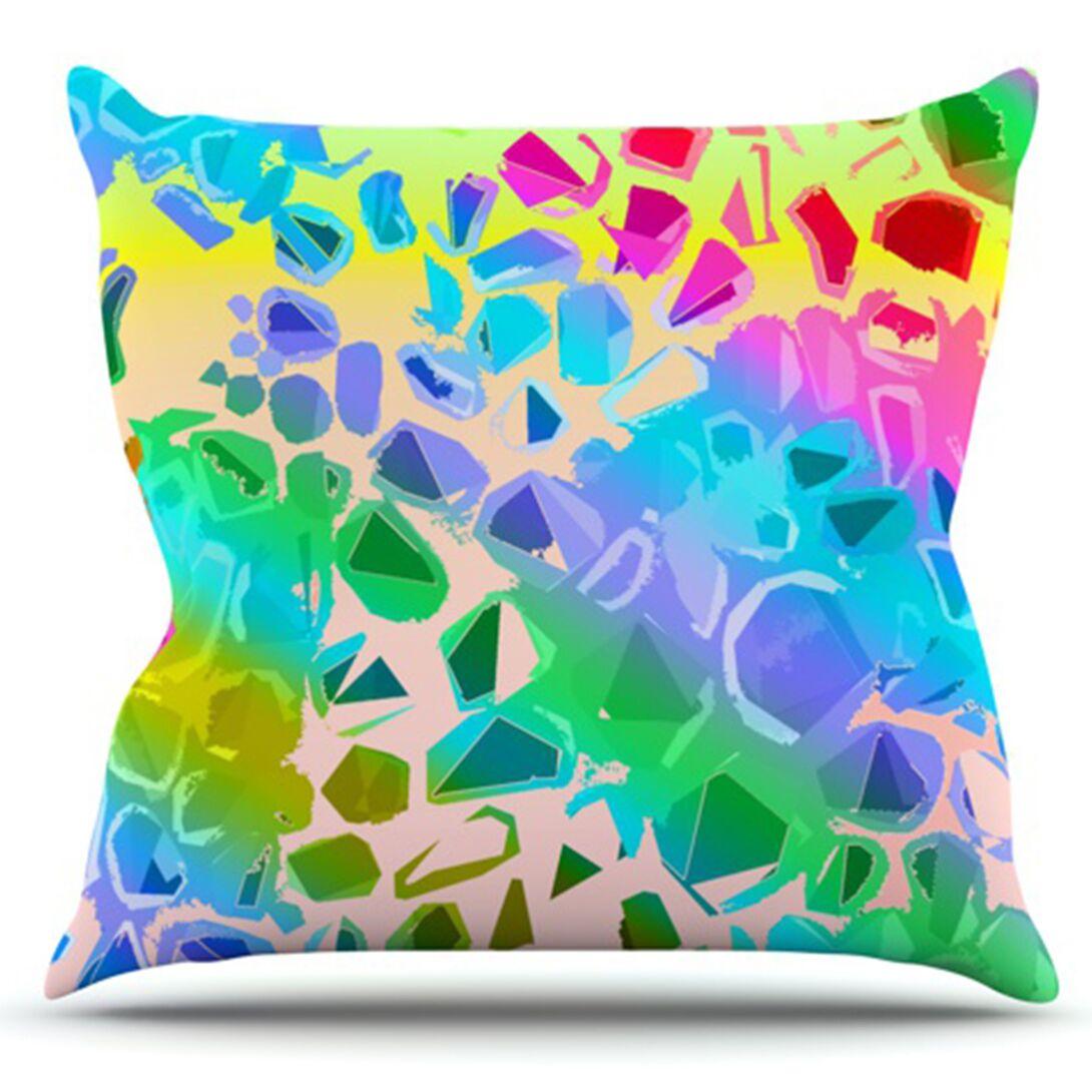 Jungle Talk by Vikki Salmela Outdoor Throw Pillow