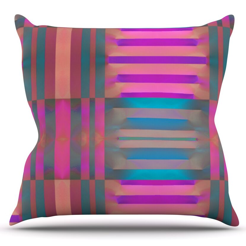Tracking by Nina May Outdoor Throw Pillow