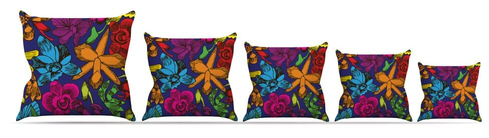 Lovely Orchids Throw Pillow Size: 26