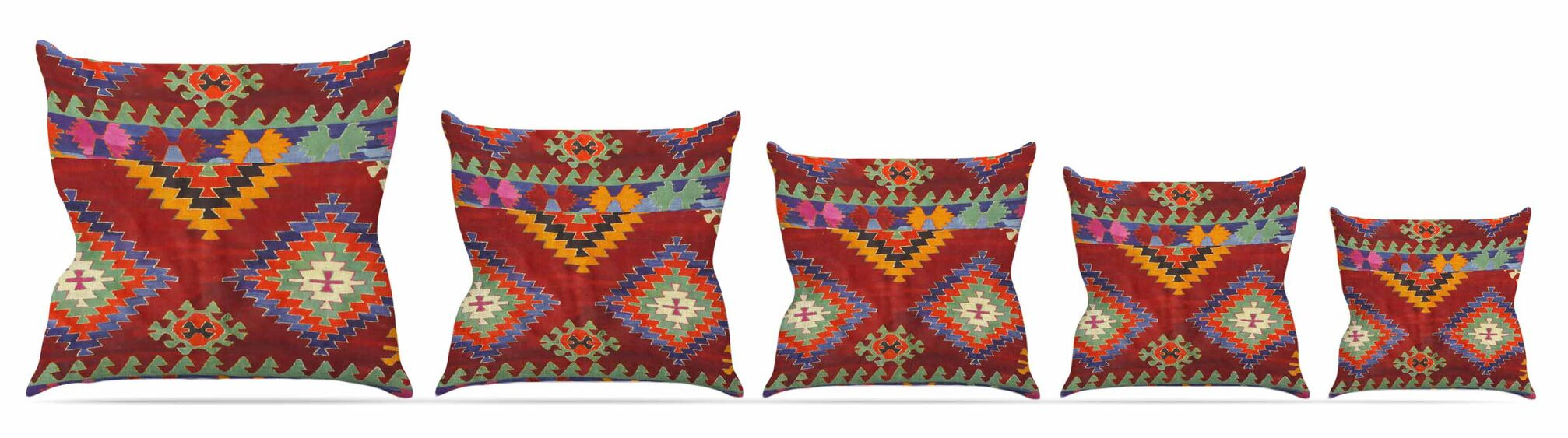 Tapestry Ethnic Throw Pillow Size: 26