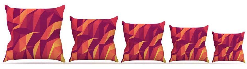 Abstract Mountains Throw Pillow Size: 26