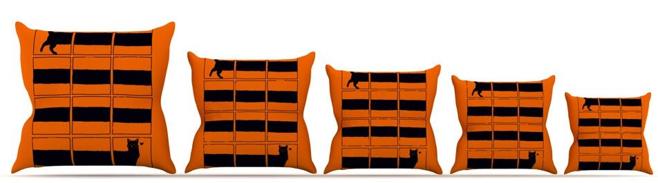 The Long Cat is Long Throw Pillow Size: 26