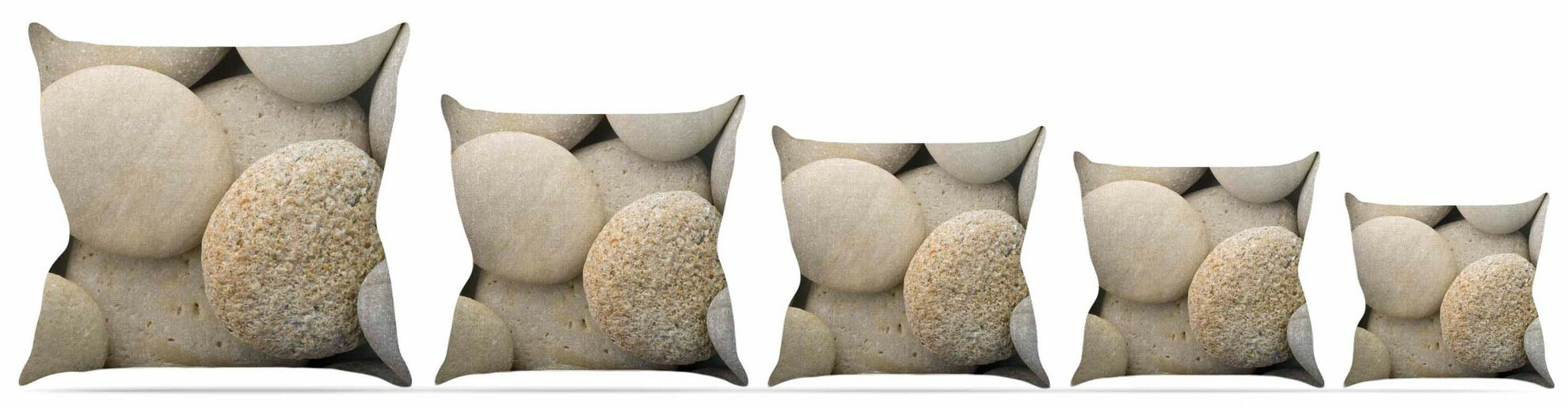 River Stones Throw Pillow Size: 26