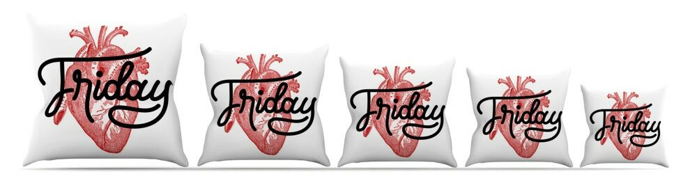 Friday Throw Pillow Size: 18