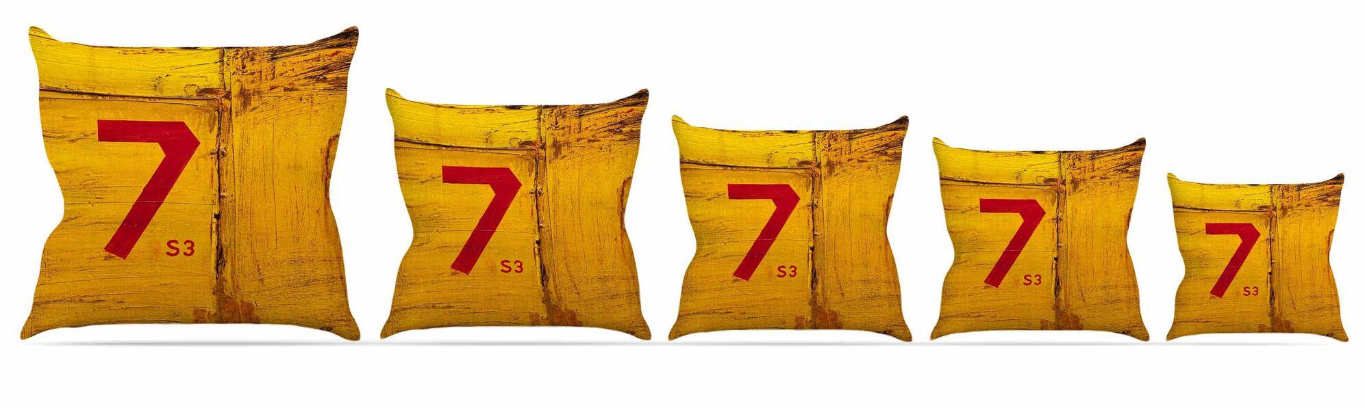 7S3 Throw Pillow Size: 26