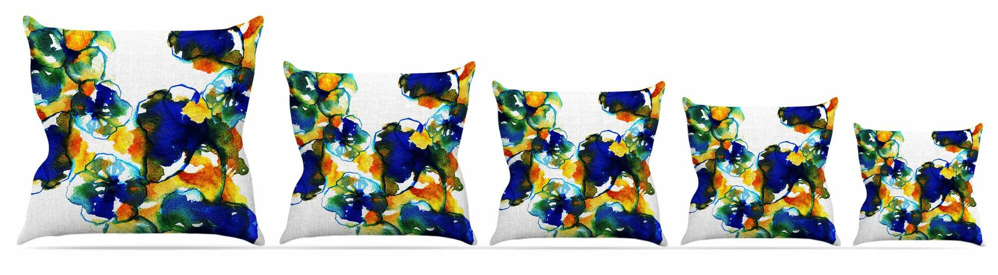 Floral Throw Pillow Size: 26