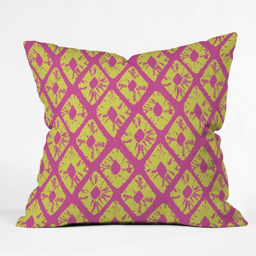 Electric Pineapple Polyester Throw Pillow Size: 20