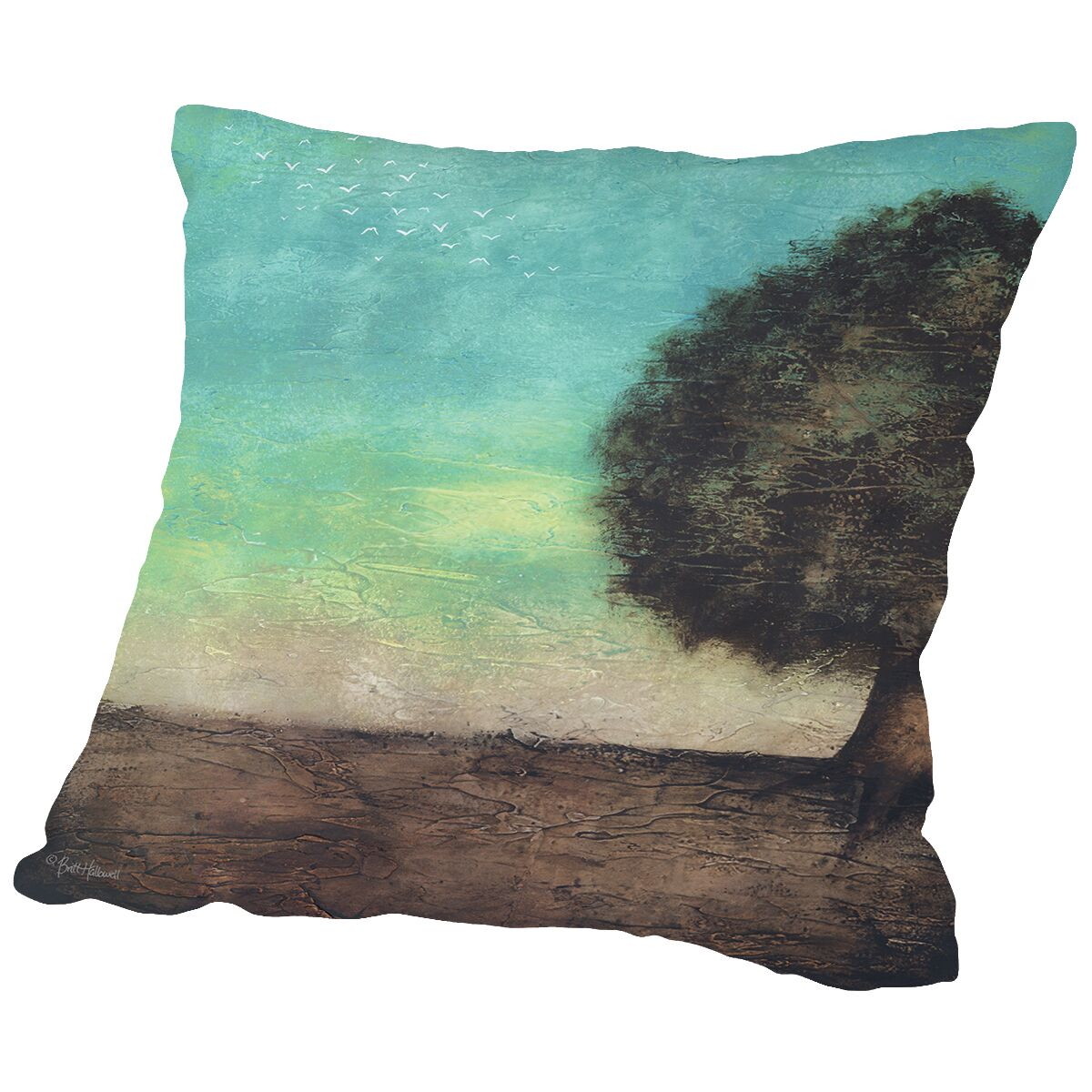 Family Roots Throw Pillow Size: 20