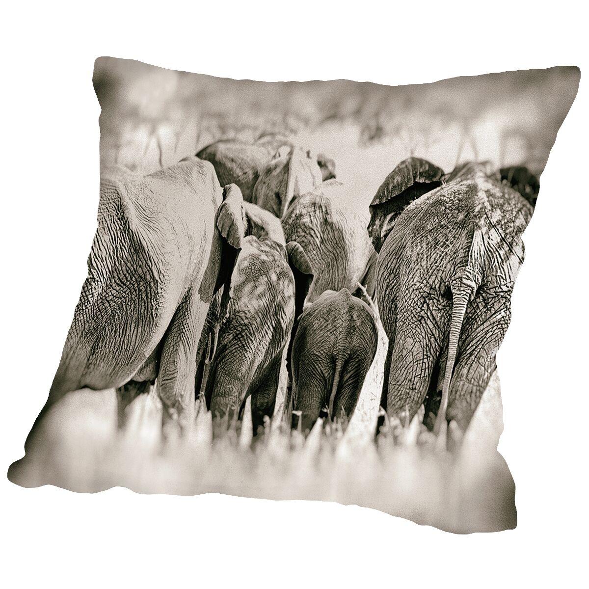 Vintage Elephant Throw Pillow Size: 16