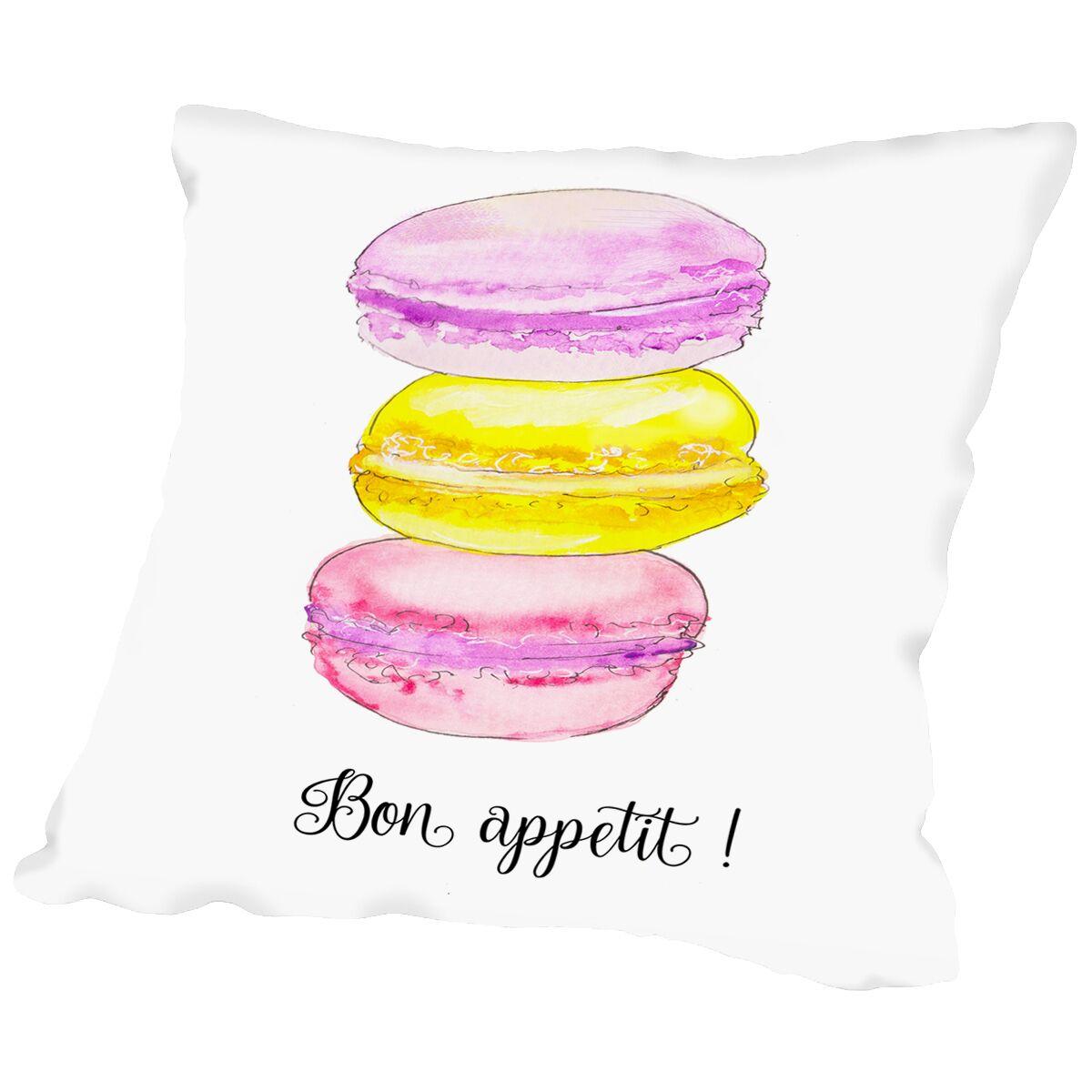 Bon Appetit Throw Pillow Size: 14